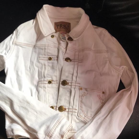 b08849ef2bc8 True Religion Jackets & Coats | All White Jean Jacket | Poshmark